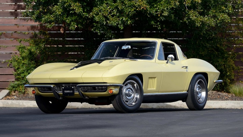 Yellow 1967 Corvette with L88 engine