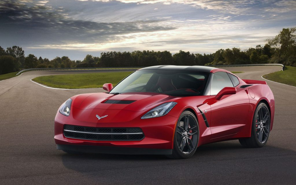 Red 2014 corvette with LT1 engine