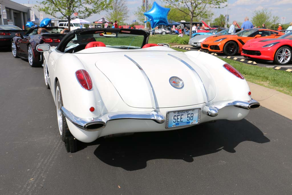 1958 C1 Corvette vanity plate