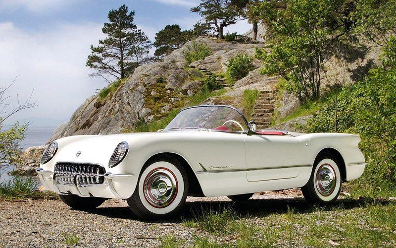 White 1953 Corvette
