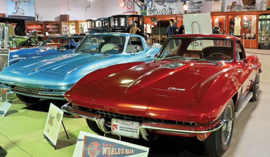 The 1964 Worlds Fair Styling Study Corvette as seen at the MY Museum at Mid America Motorworks.