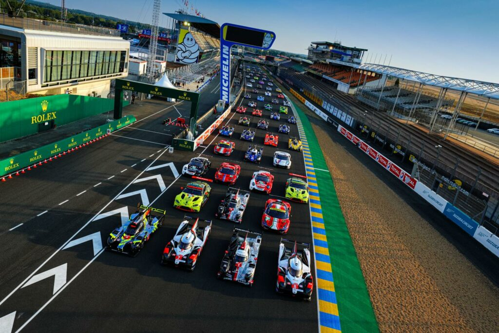 The starting field from the 2020 running of the 24 Hours of Le Mans.