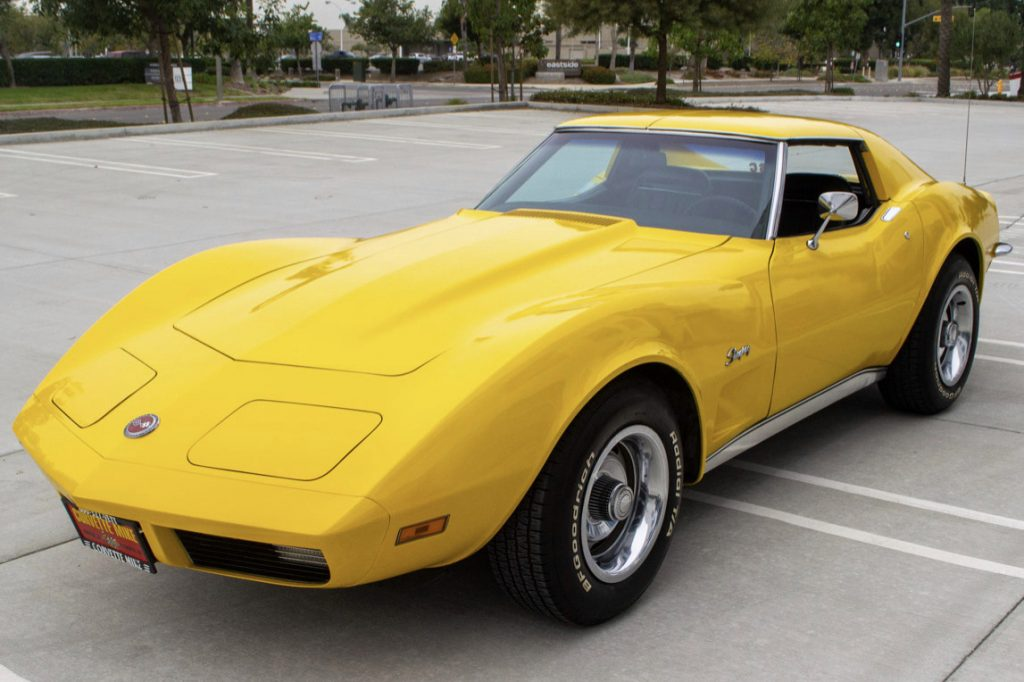 Yellow 1973 Corvette with L82 Engine