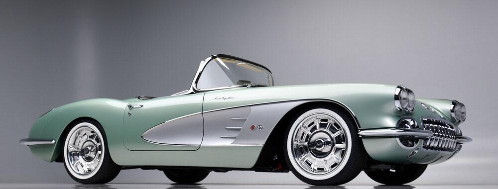 1959 Corvette Restomod Barrett Jackson Front View