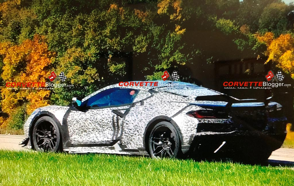 A camouflaged 2022 Z06 Mid-Engine Corvette out in the wild.  We can't wait to see the beast fully unwrapped!