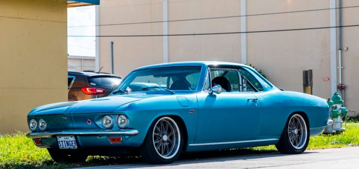 This 1965 Corvair Stinger features an LS6 Corvette engine out of a 2001 Z06.
