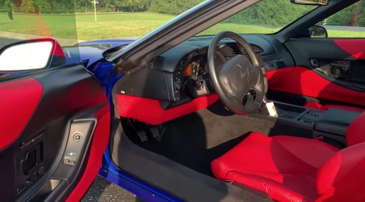 This 1996 Grand Sport Corvette's interior is nearly spotless.