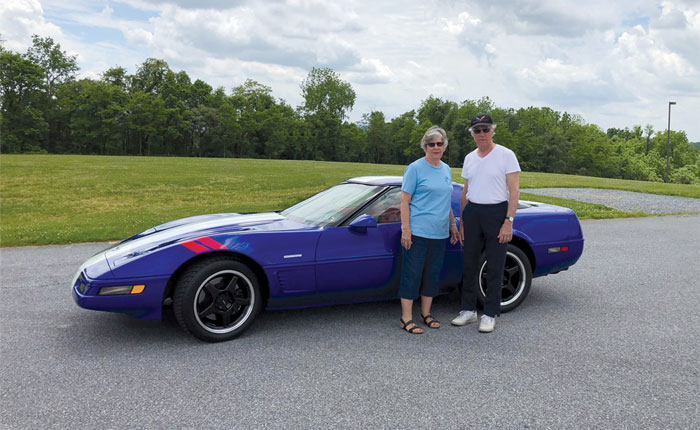 This 1996 Corvette Grand Sport was donated to the NCM by Carol (left) and Larry Watkins.