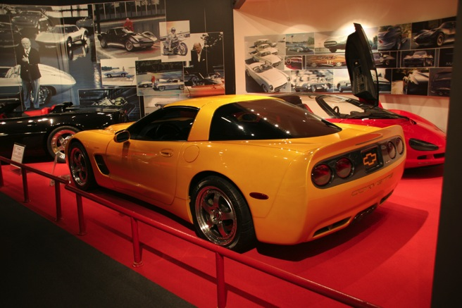 The 2001 Tiger Shark was developed as both a concept car and a custom body kit that could be ordered by fifth-generation Corvette owners.