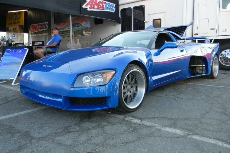 The GT-55C is a twin LT4-powered super car built around a C5 Corvette chassis.