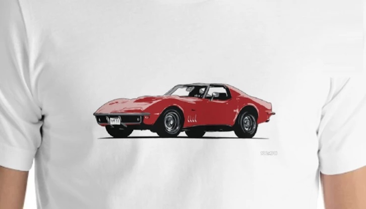 A 68 Corvette C3 shirt available on 100MPH for $29.95 USD
