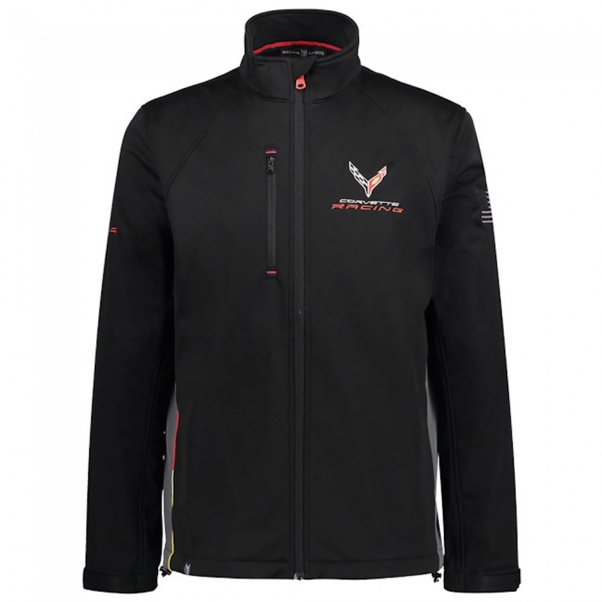 An official Corvette racing jacket, priced at $175.00 USD on Official Corvette Racing Store