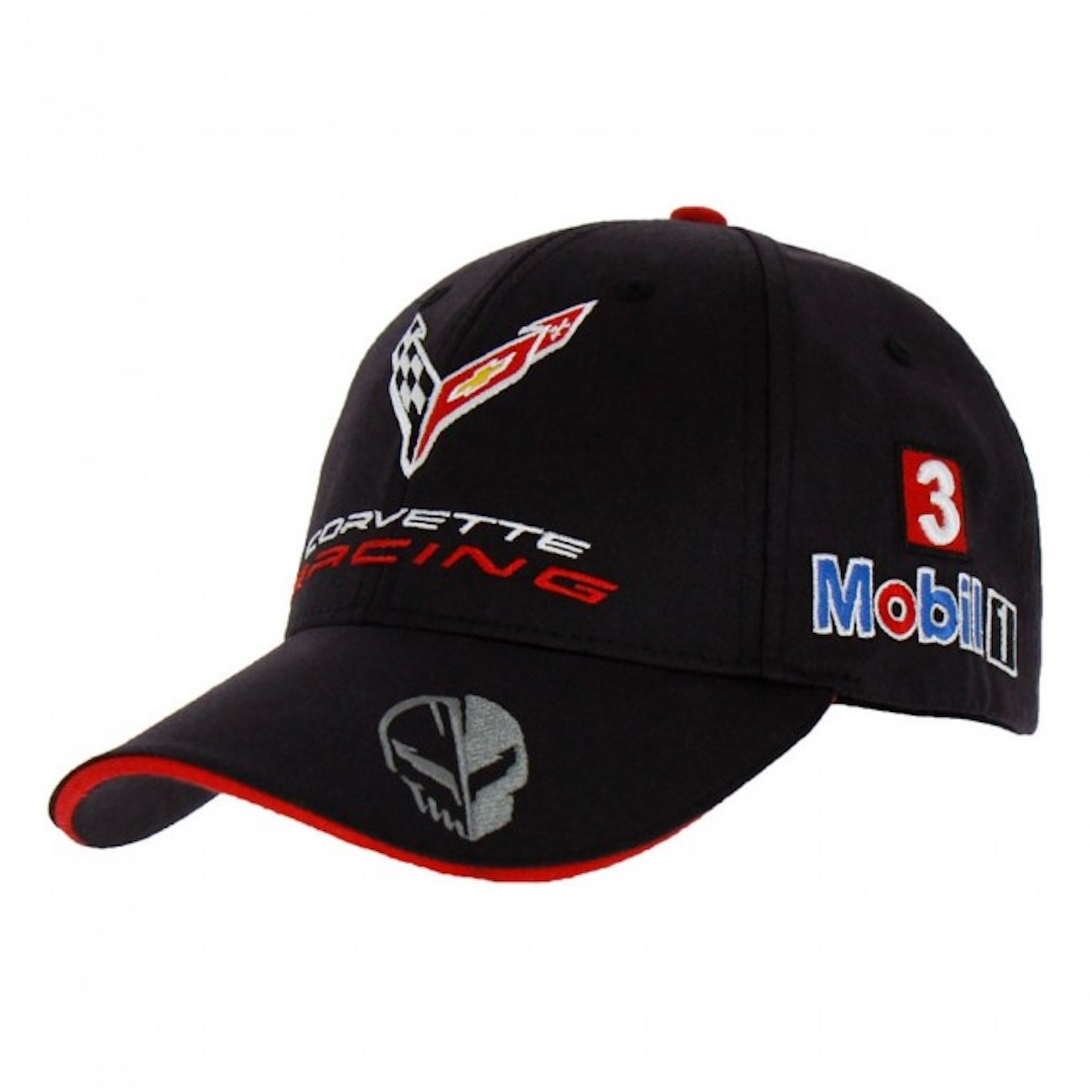 A veiw of the Corvette C8.R Official Team Cap, available at the Official Corvette Racing Store for $30.00 USD