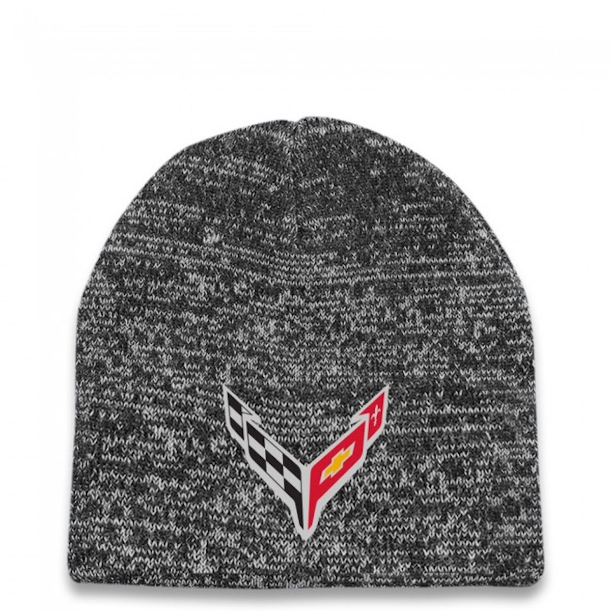 A view of the Corvette Racing C8.R Double Knit Beanie, available at the Official Corvette Racing Store for $25.00 USD