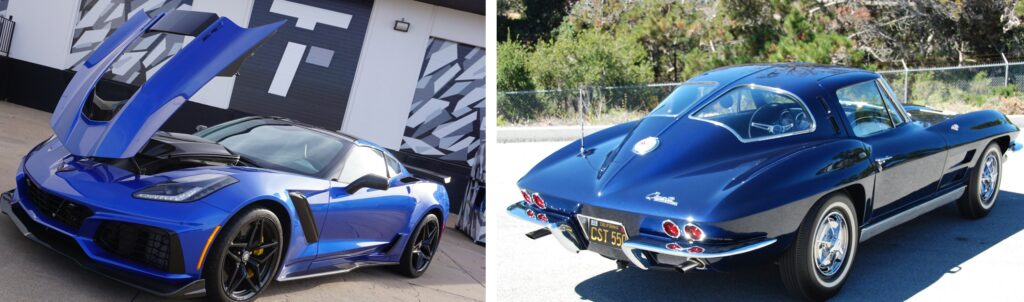 """2019 Corvette ZR1 versus the 1963 Split Window Coupe. Its a battle of """"beauty vs. the beast""""....but which is which?"""